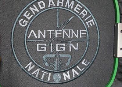 logo brodé gendarmerie