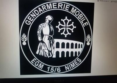 flocage gendarmerie